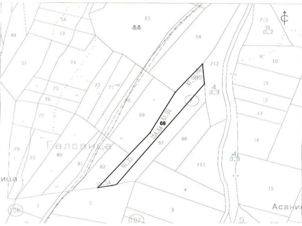 Plot of land, 2569 m2 - 1/3